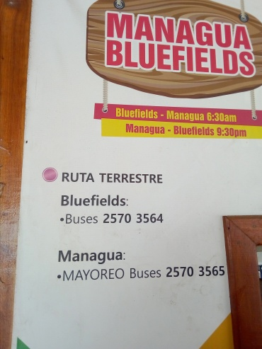 telefono Wendelyn - terminal buses bluefields